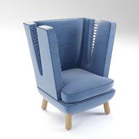 3D model armchair arm chair
