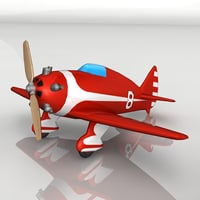 small toy plane 3D model