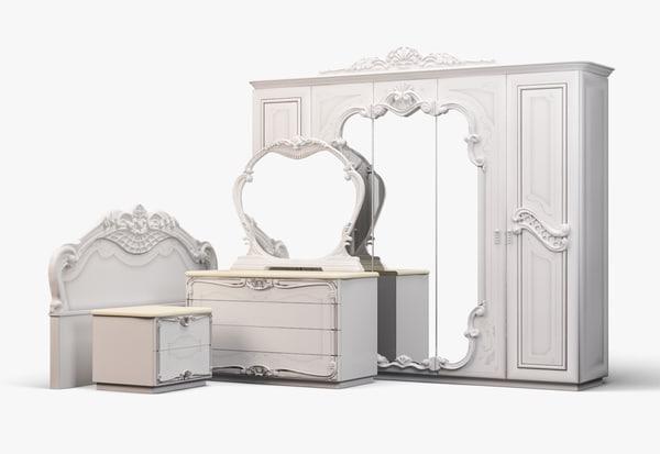 3D classic bedroom set
