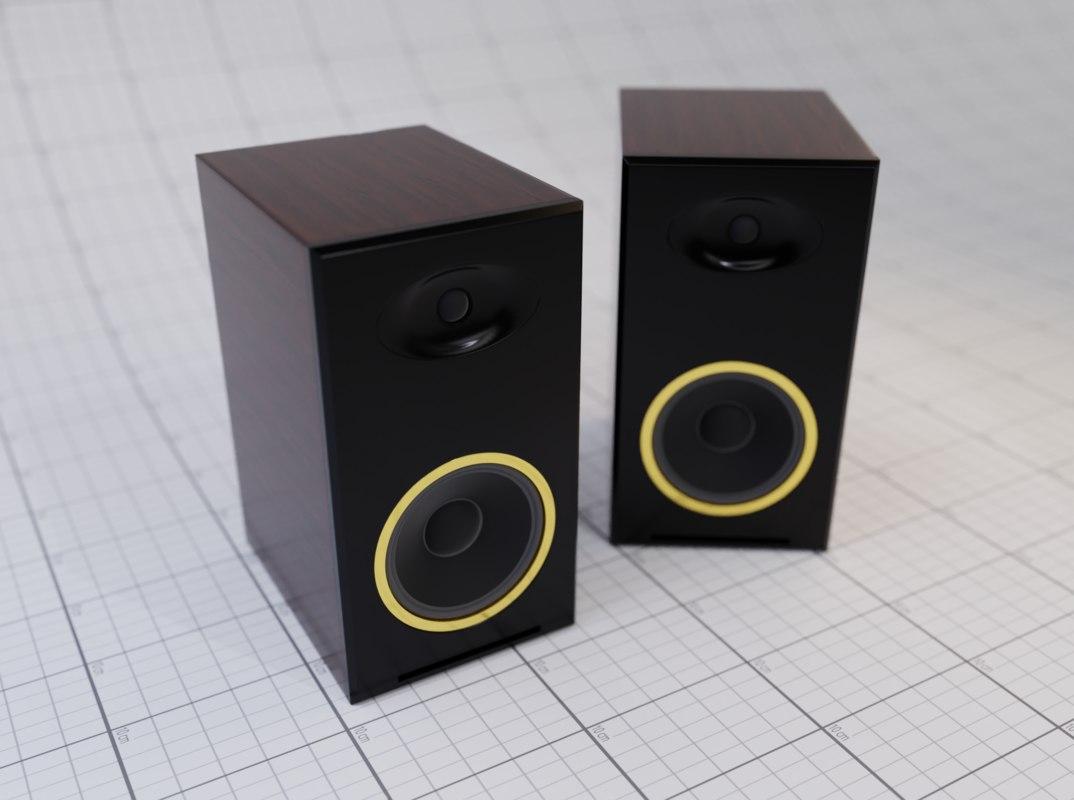 3D speaker box blender model