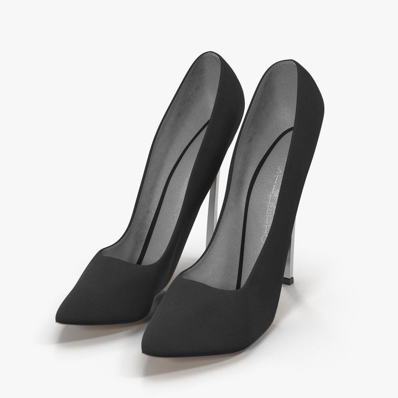 stiletto shoes - black model