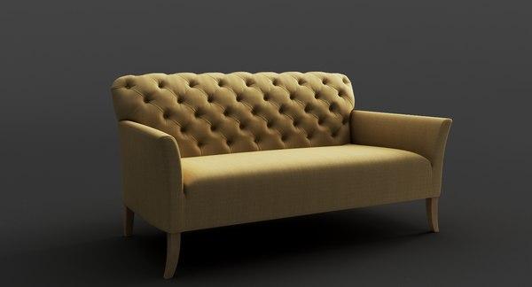 3D seat beaudan seater model