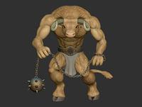 3D minotaur