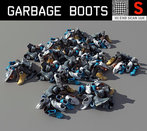 3D model garbage boots hd lp
