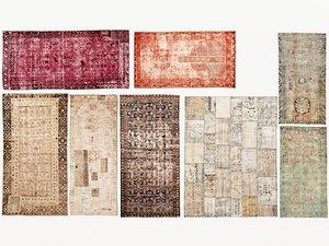 old carpets 01 over-dyed 3D model
