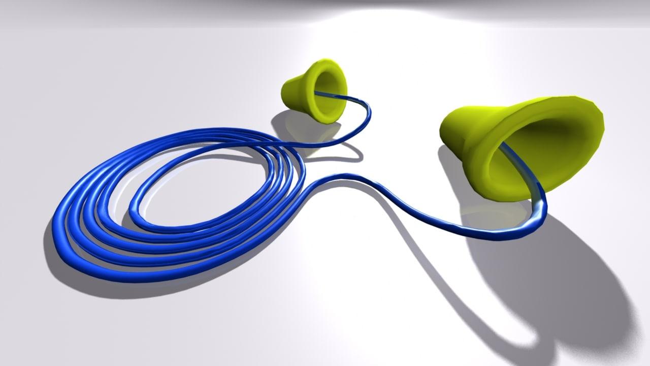 ear plugs 3D model