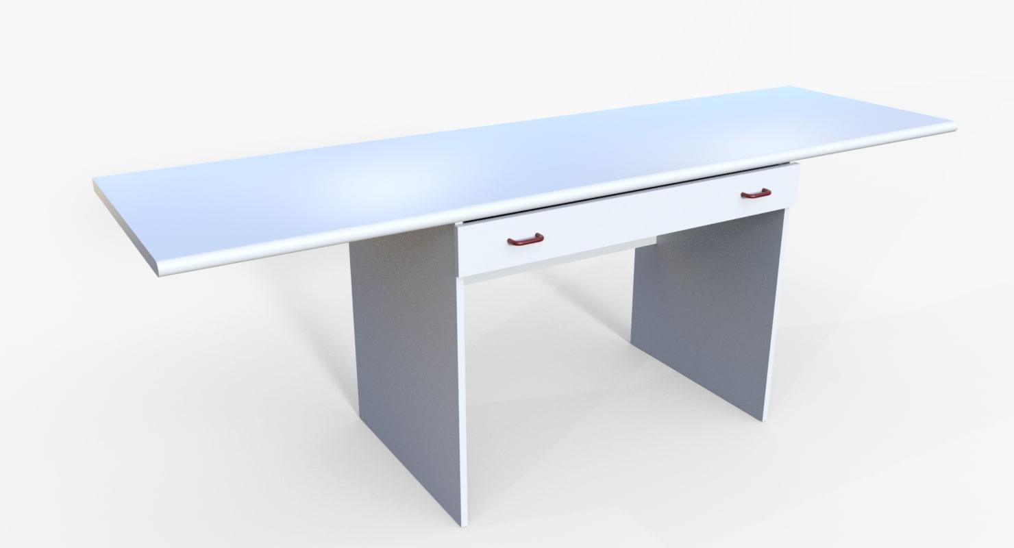 desk drawer 3D model