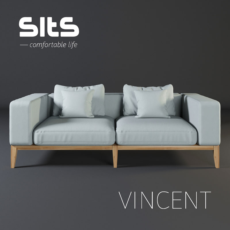 3D sofa vincent sits
