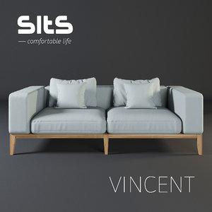 3D sofa vincent sits