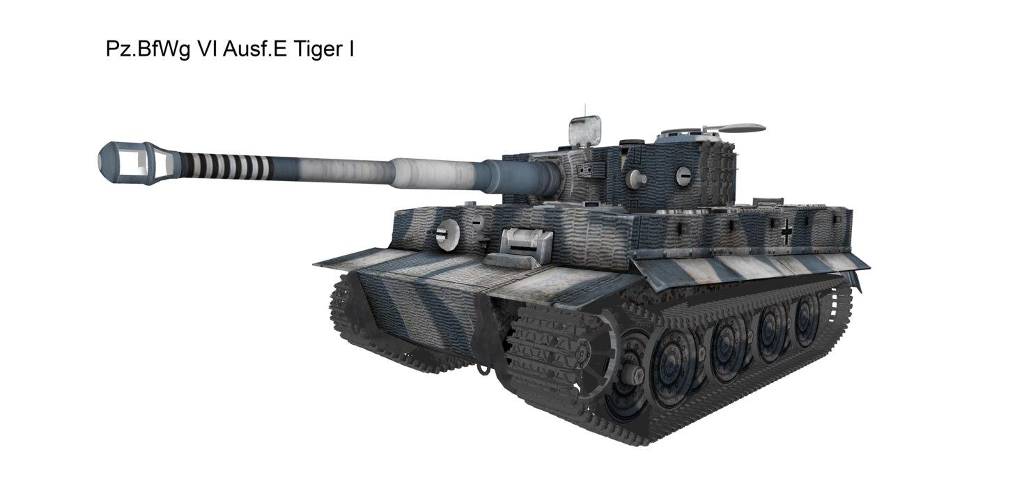 tiger tank ausf 3D model