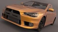 mitsubishi lancer evo 3D model