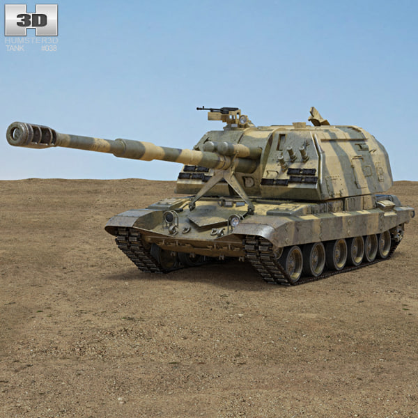 msta msta-s 2s19 3D model
