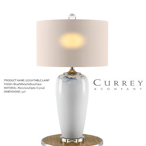 leigh table lamp currey 3D model