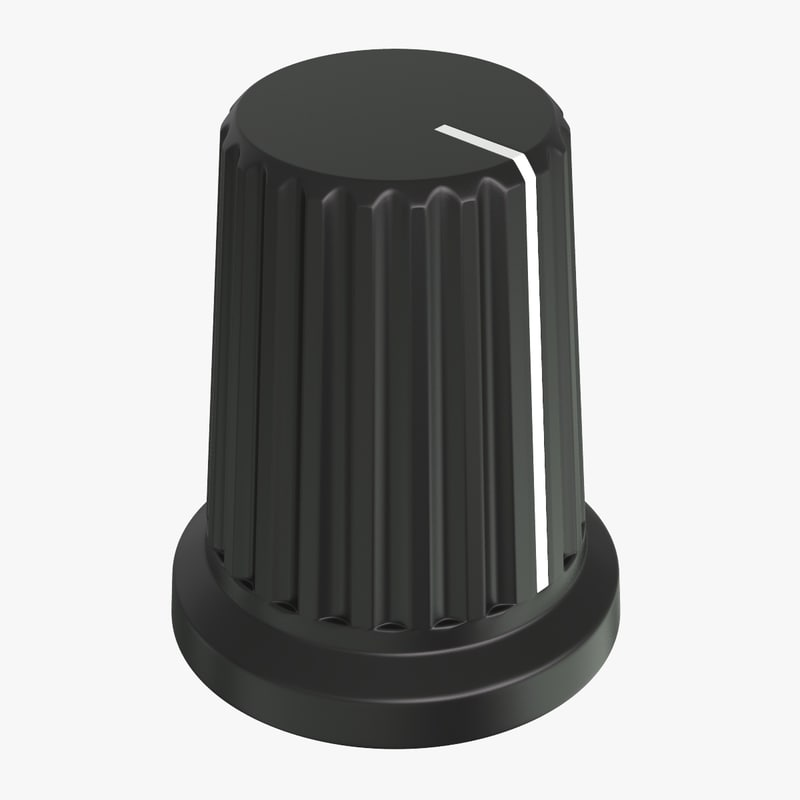 3D knob cap button v2 model