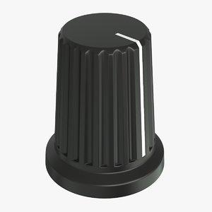 3D knob cap button v2 model