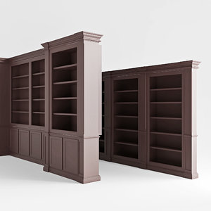 built-in library 3D model