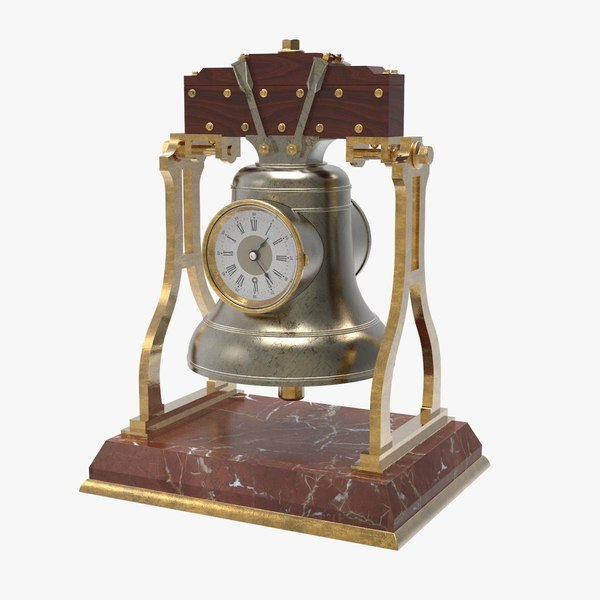 french bell clock 3D model