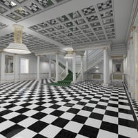 classical grand staircase model