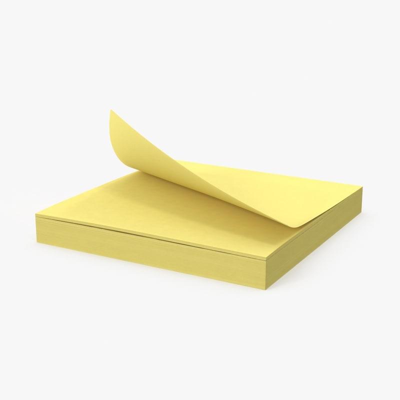 sticky-notepad 3D model