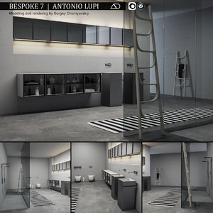 bathroom furniture set bespoke model
