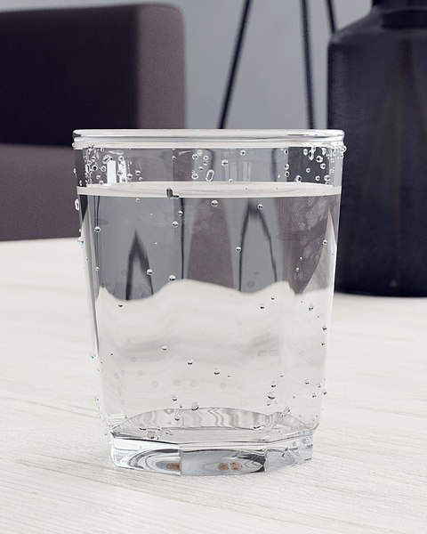 glass water 3D model