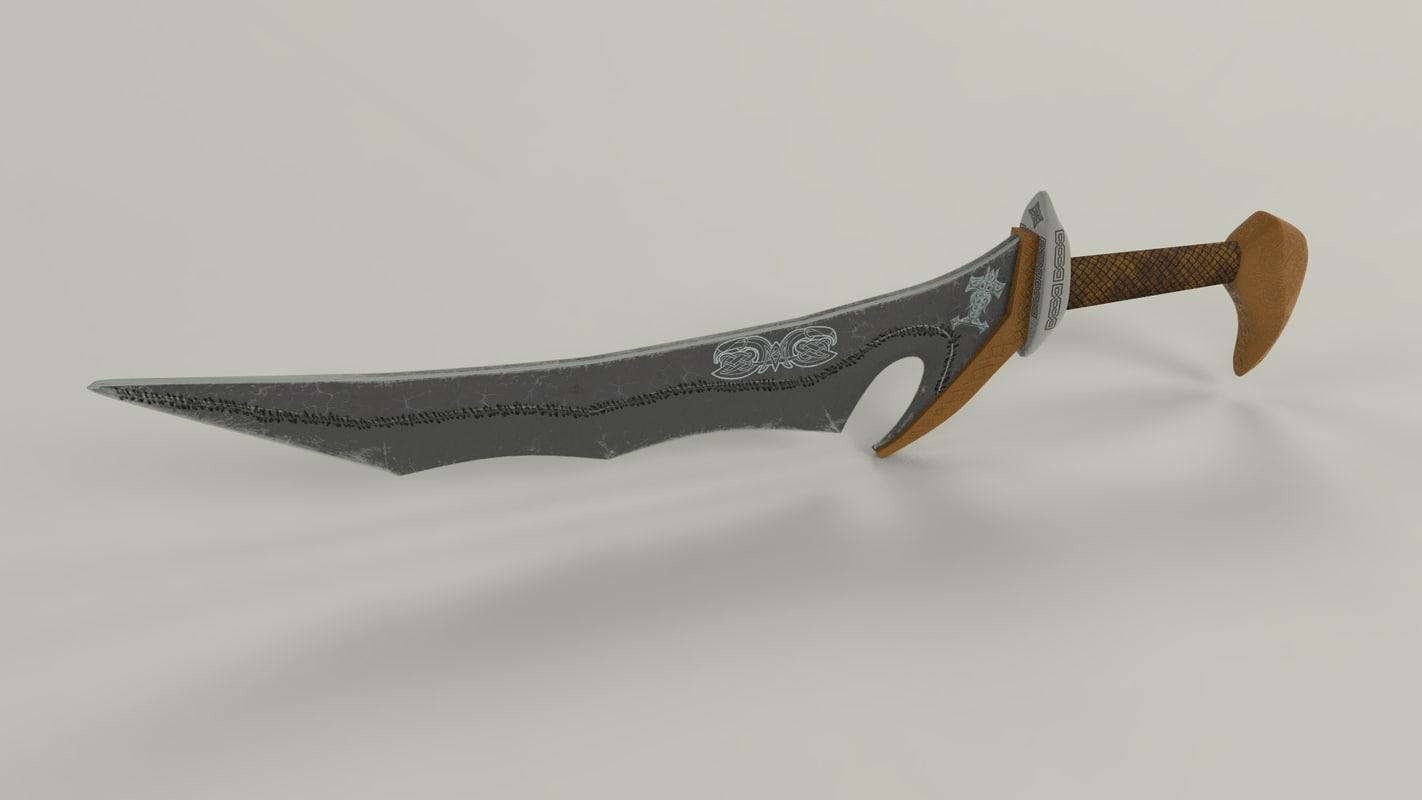 3D dwarven dagger