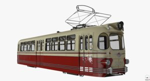3D lm-57 soviet tram model