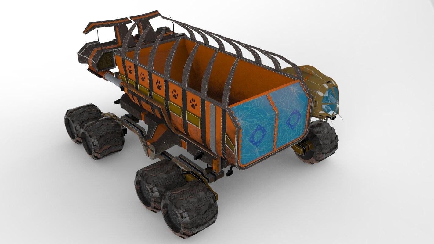 3D model dumper vehicle