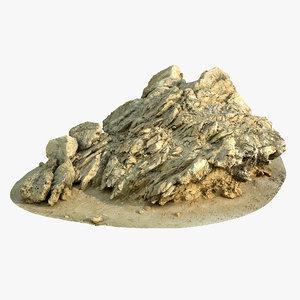 limestone rock 3D model