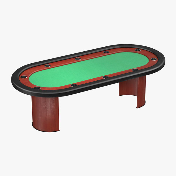 3D poker table model