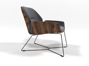 ginkgo lounge chair 3D model