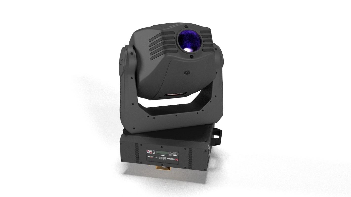 3D varyscan p6 moving head model