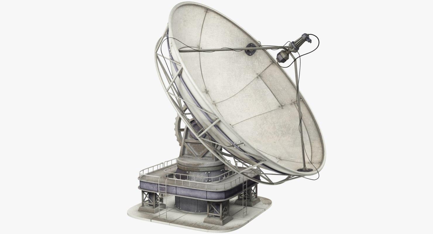 satellite dish 3d model turbosquid 1205248