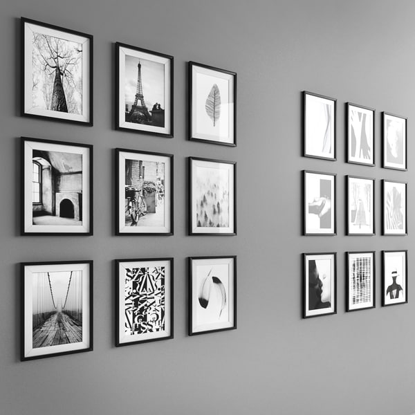 18 framed black white model