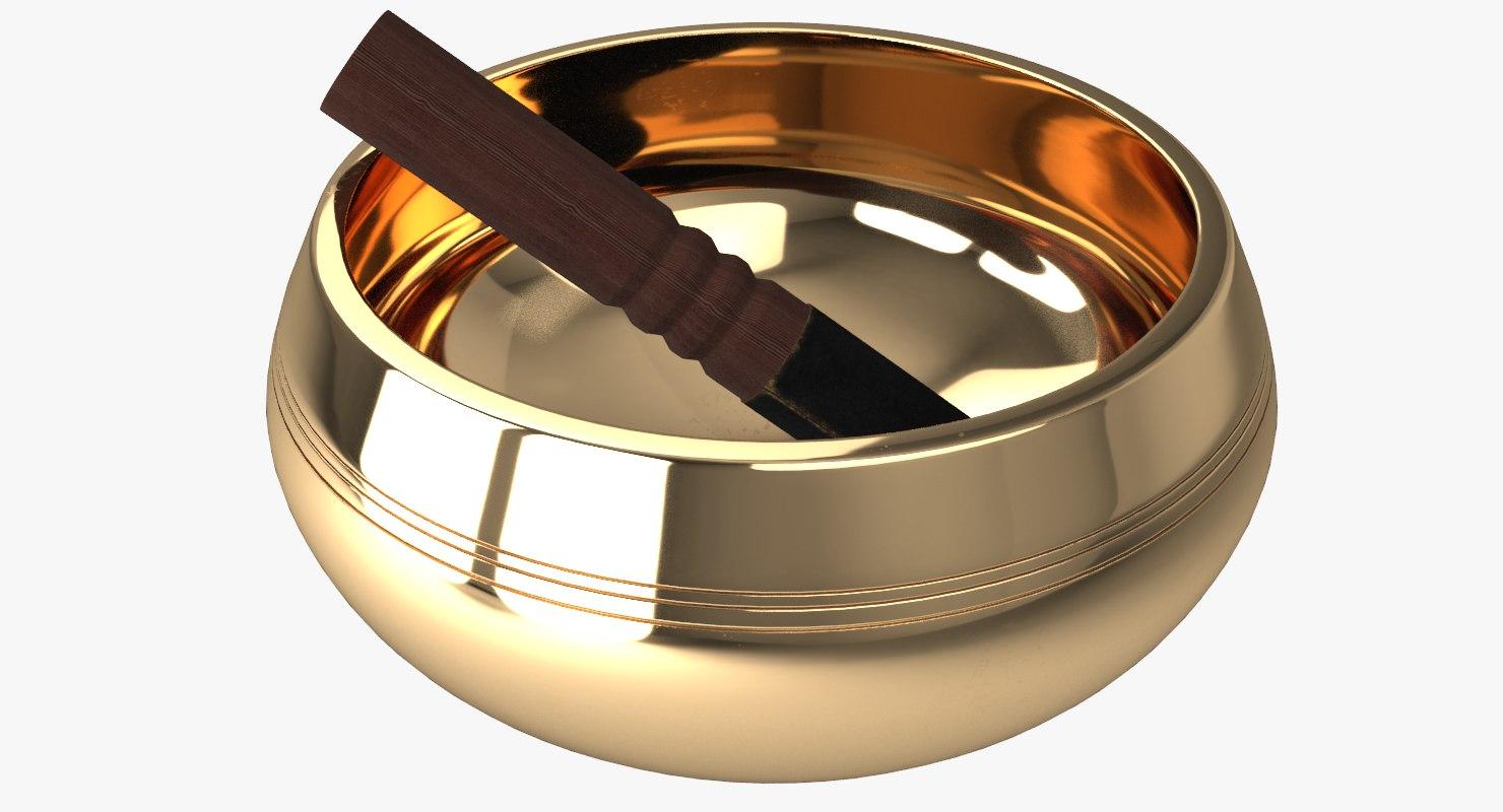 3D model singing bowl