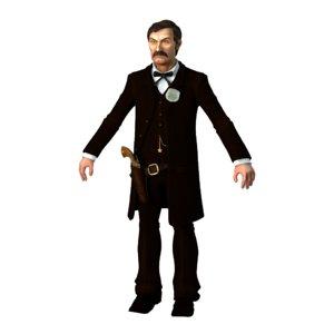 gunfighter dallas stoudenmire 3D model