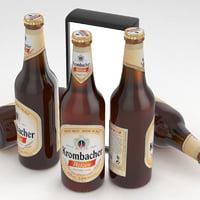 3D model beer bottle krombacher weizen