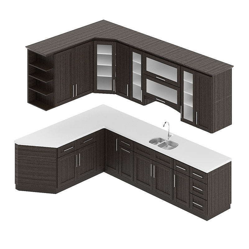 kitchen furniture set 3D