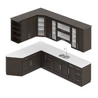 kitchen furniture set 3D
