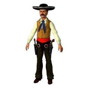 3D gunfighter john king fisher model