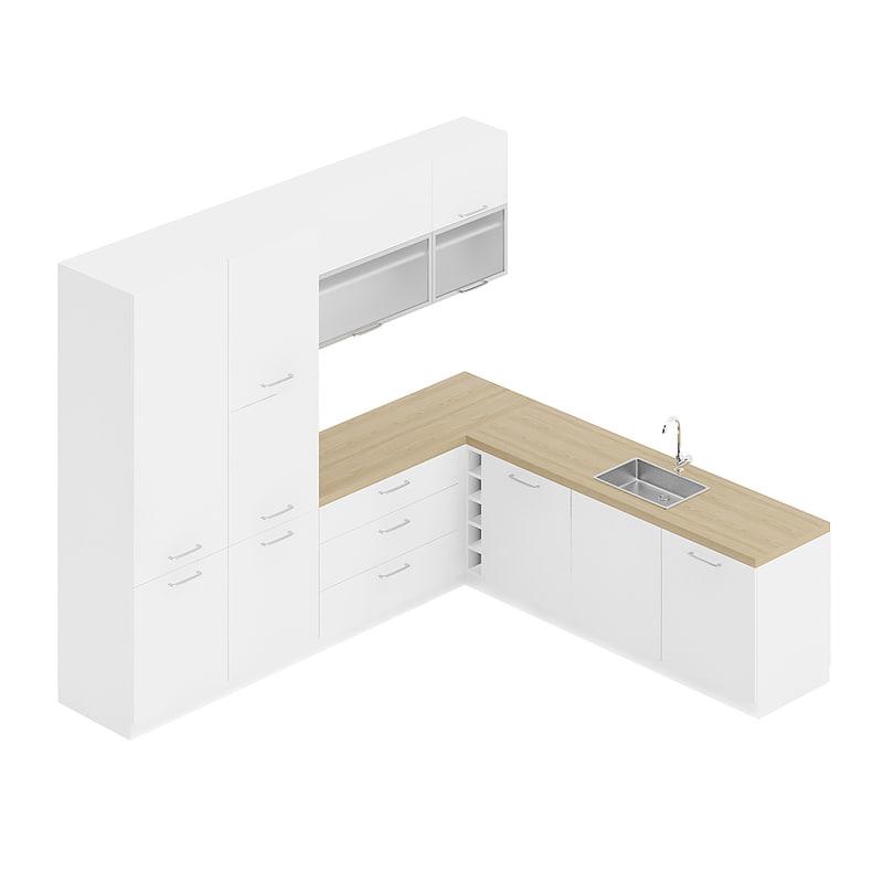 white kitchen furniture set model