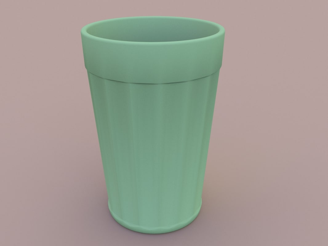 3D model classic faceted glass