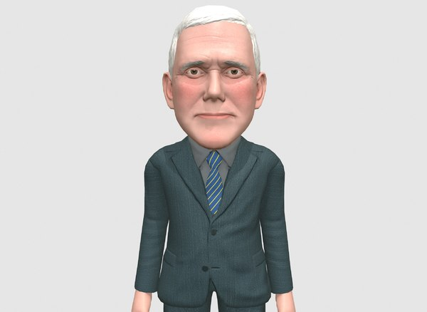 3D caricature mike pence