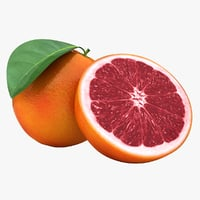 3D realistic blood orange 3