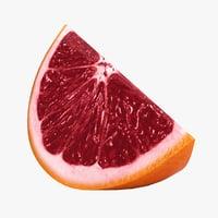 realistic blood orange slice model
