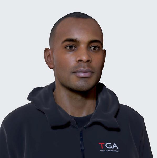 afro male head 3D model