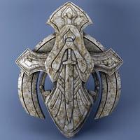 metallic 3D model