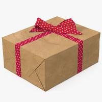 3D gift box paper 2 model