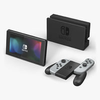 video console nintendo switch 3D model