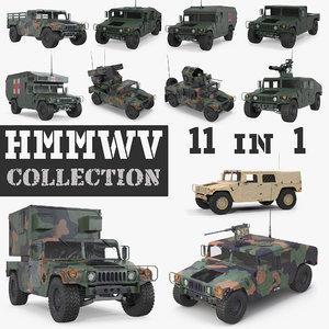 hmmwv m998 humvee 3D model